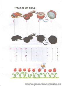 trace line worksheets for kids