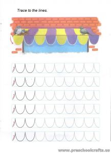 trace lines workpages for preschool