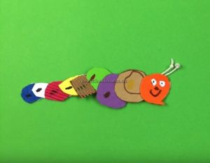 How to make a Caterpillar - Simple Preschool Arts and Craft Idea