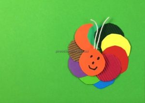 How to make a Caterpillar - simple preschool arts and crafts for Firstgrade