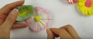 Paper Flowers Crafts Making for Kindergarten