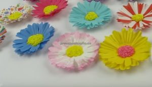 Paper Flowers Crafts Making for preschool