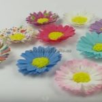 Paper Flowers Crafts Making for preschooler