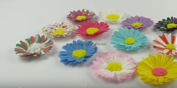Paper flowers making easy room and party decor preschool and paper flowers making easy room and party decor preschool and kindergarten mightylinksfo