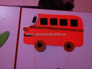 bus craft to make for kids