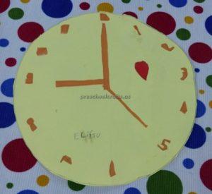 clock craft for firstgrade