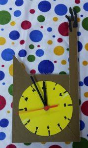 clock craft for preschoolers