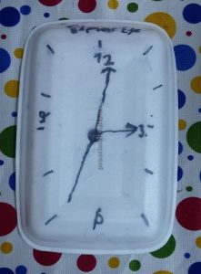 paper plate clock theme craft ideas for kindergarten