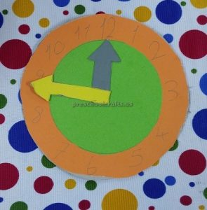 clock theme craft ideas for toddler