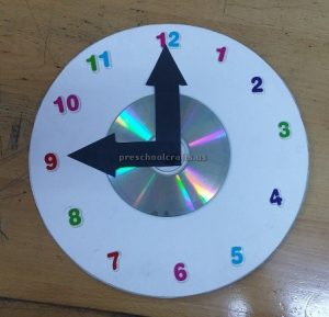 cd crafts clock theme crafts for kids