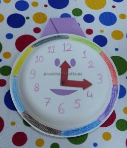 craft related to clock for kids