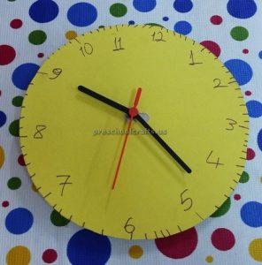 craft related to clock for kindergarten