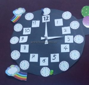 crafts to wll clock for kids