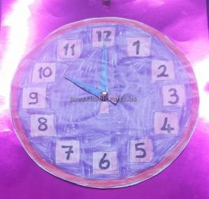 crafts to wll clock for kindergarten
