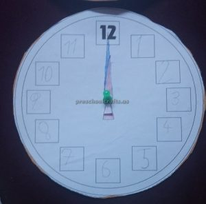 crafts to wll clock for preschool