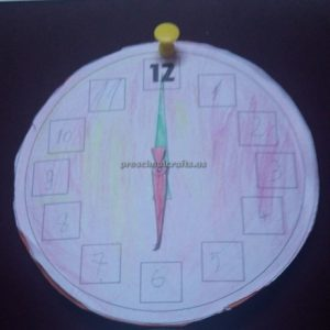 crafts to wll clock for preschoolers