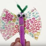 cupcake liners butterfly craft making for kids