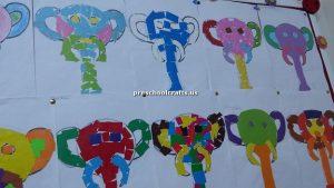 elephant bulletin board for kindergarten