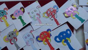 elephant bulletin board for pre-school