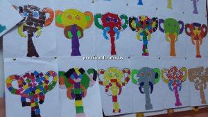 elephant bulletin board for preschool