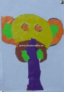 elephant craft bulletin board for kindertgarten