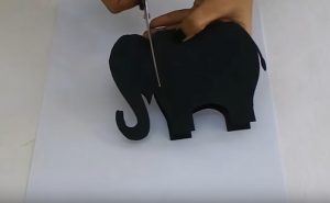 elephant craft making for preschool teacher