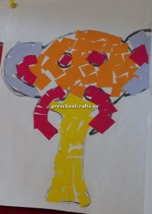 elephant crafts board for kids
