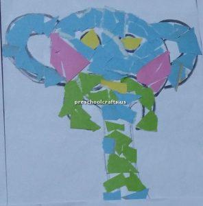 elephant crafts bulletin board