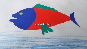 fish craft idea for kindergarten