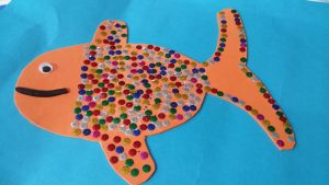 fish theme craft idea for toddler