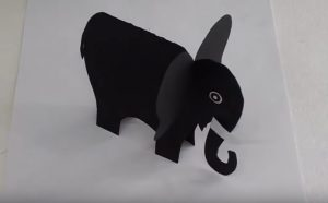 how to make elephant craft for preschool