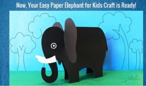 how to make elephant craft for preschoolers
