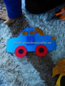 kindergarten car craft ideas
