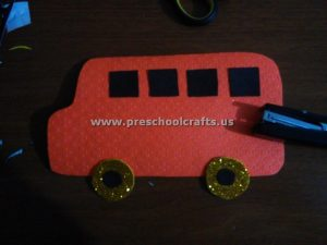letter b craft idea for bus