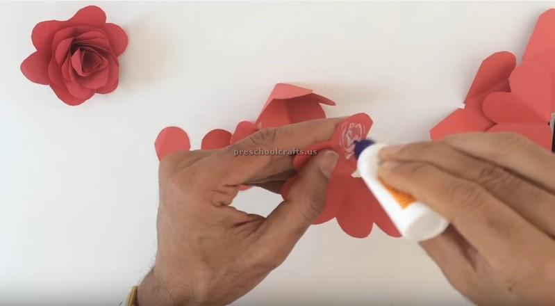 Making Rose Craft Ideas For Kids Preschool Crafts Tafhs Com