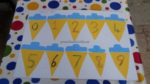 number craft for kindergarten