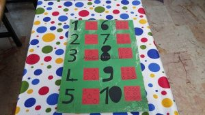 number craft idea for kindergarten