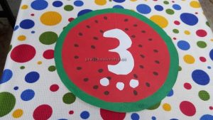 number theme craft for kindergarten