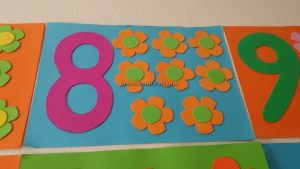 number theme craft for preschool