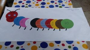 number theme craft idea for kindergarten