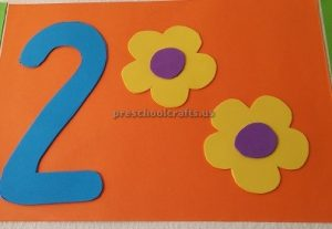 numbers theme craft for preschool