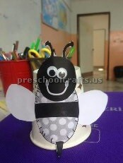 paper cup bee craft ideas