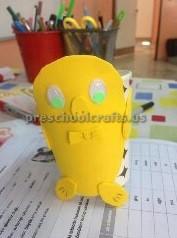 paper cup chick craft ideas preschool
