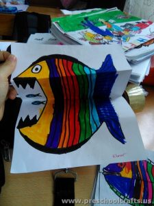 preschool fish paper projects