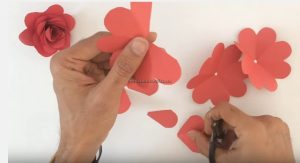 rose craft making for preschool