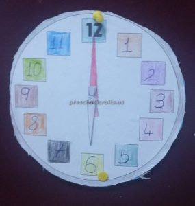 wall clock craft for kids