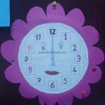 wall clock craft for preschool