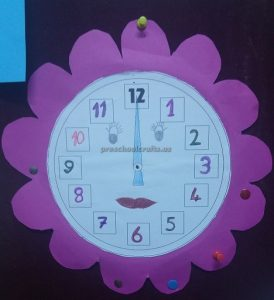 wall clock craft for preschool