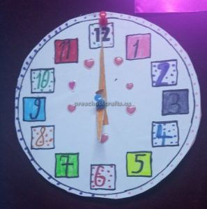 wall clock craft ideas for kindergarten
