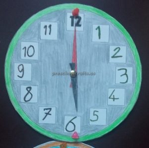 wall clock theme craft ideas for preschool